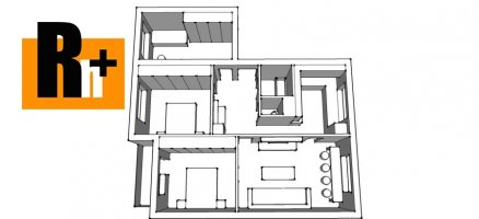Na predaj 4 izbový byt Bratislava-Rača Závadská - exkluzívne v Rh+