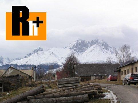 Foto Na predaj zastavané plochy a nádvoria Stráne pod Tatrami
