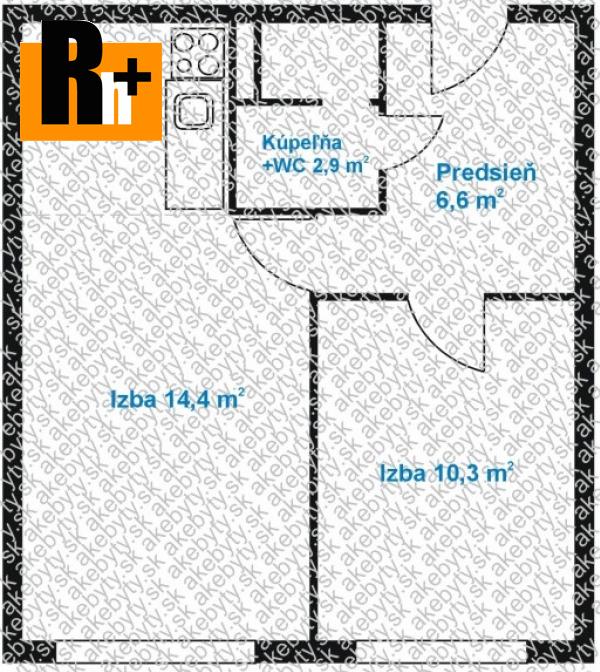 Foto Košice-Nad jazerom . na predaj 2 izbový byt