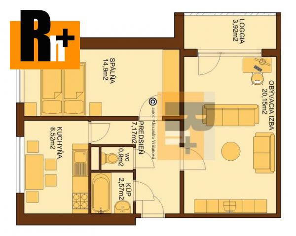 Foto 2 izbový byt Bratislava-Petržalka Mamateyova na predaj - exkluzívne v Rh+