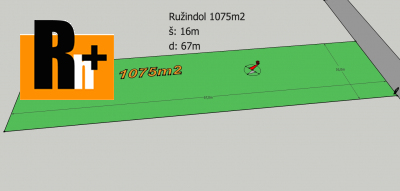 Pozemok pre bývanie Ružindol na predaj - 1075m2