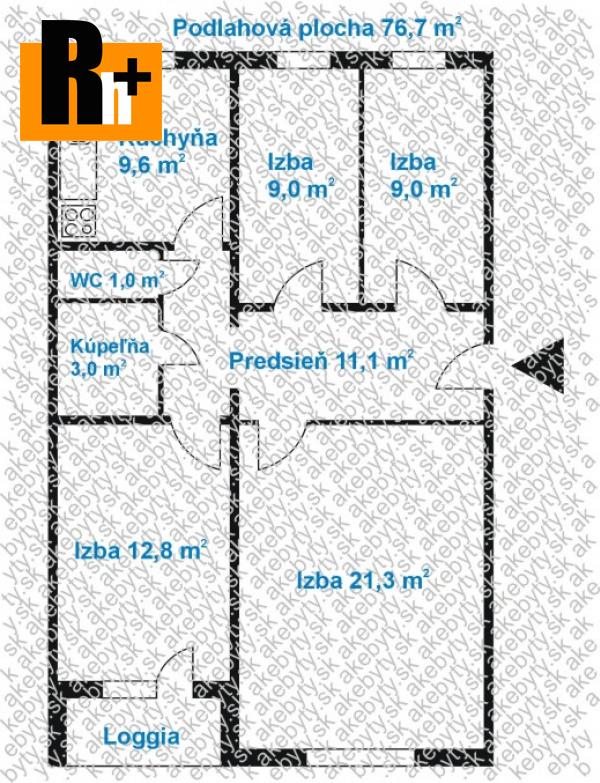 Foto Na predaj 4 izbový byt Košice-Sídlisko Ťahanovce - -