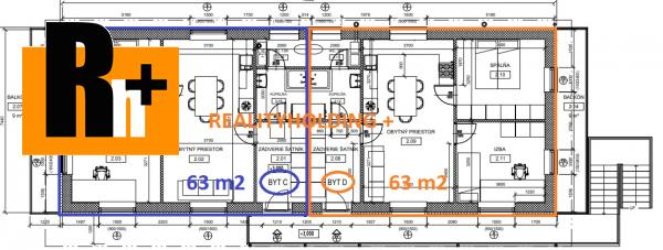 9. obrázok Na predaj Svinná 4 izbový byt - vo výstavbe