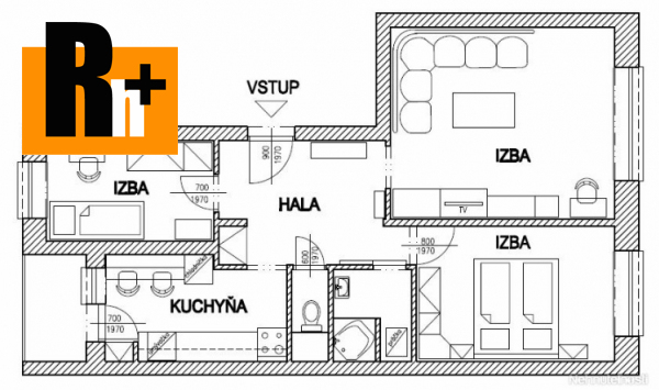 Foto Na predaj 3 izbový byt Bratislava-Vrakuňa Kríkova - TOP ponuka