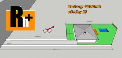 Na predaj pozemok pre bývanie Bučany - 1000m2