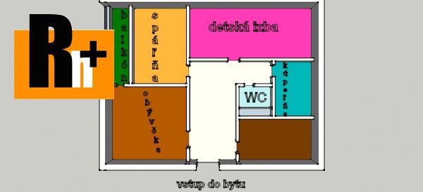 Foto Vrútky centrum na predaj 3 izbový byt - s balkónom