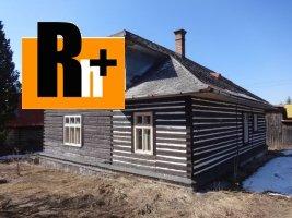 Rekreačný domček Šumiac Hlavná na predaj - znížená cena